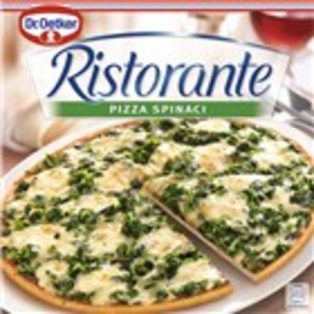 Oferta de Pizza d'espinacs RISTORANTE, envàs 390 grams por 2,95€