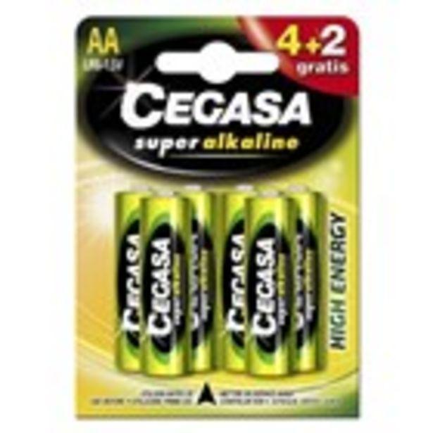 Oferta de Pila ultra-alcalina LR06 CEGASA, 4+2 unitats por 3,95€
