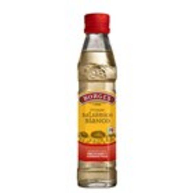 Oferta de Vinagre balsàmic de Mòdena blanc BORGES, ampolla 250 ml. por 1,61€
