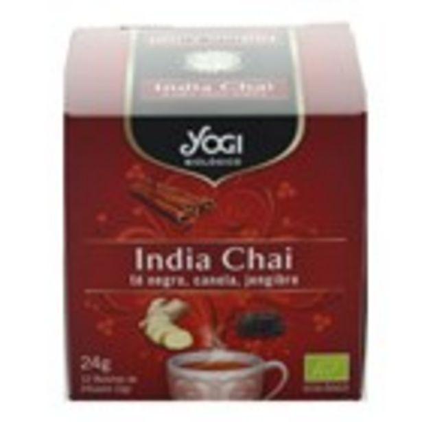 Oferta de Te clàssic India Chai bio YOGI, 12 unitats por 2,16€