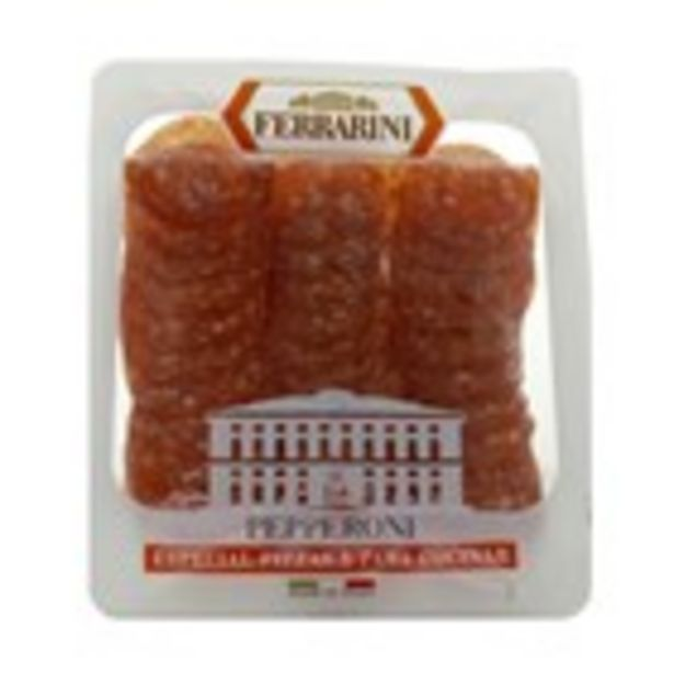 Oferta de Pepperoni especial pizza FERRARINI, 90 grams por 1,89€