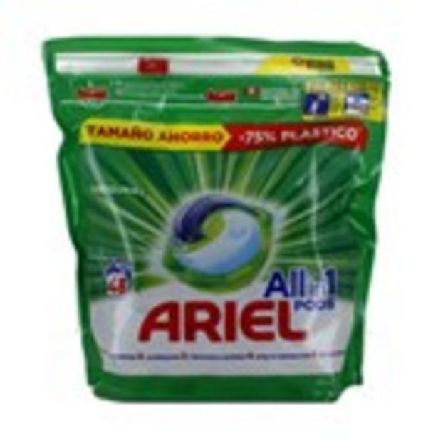 Oferta de Detergent caps original ARIEL, 46 mesures 1.209 kg por 9,99€