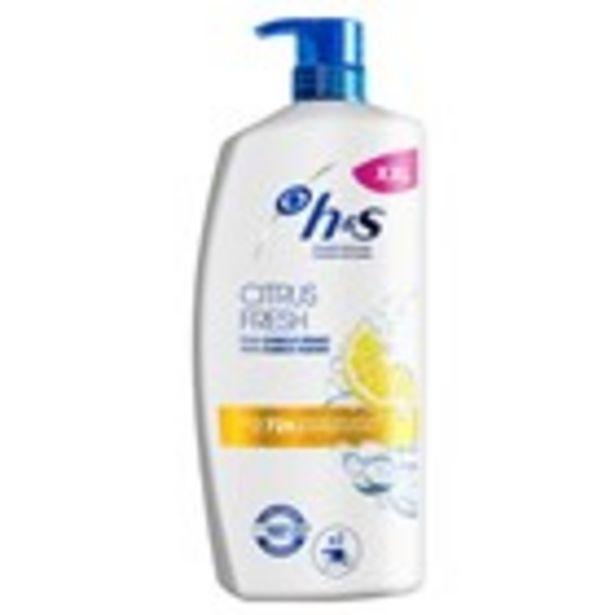 Oferta de Xampú citrus fresh H&S dosificador, 900 ml por 7,49€