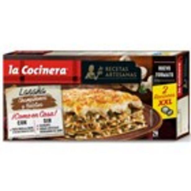 Oferta de Lasanya de  xampinyó i boletus LA COCINERA, 500 grams por 3,07€