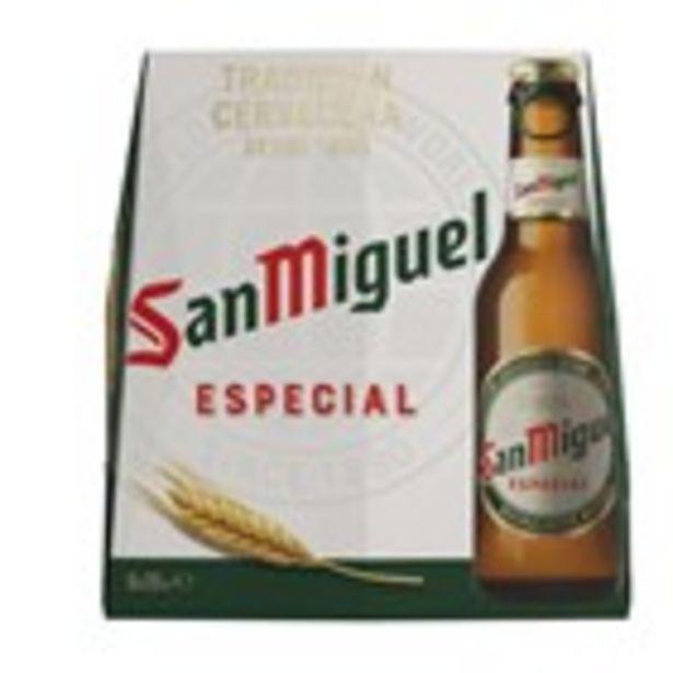 Oferta de Cervesa SAN MIGUEL, pack 6 ampolles 25 cl. por 2,25€