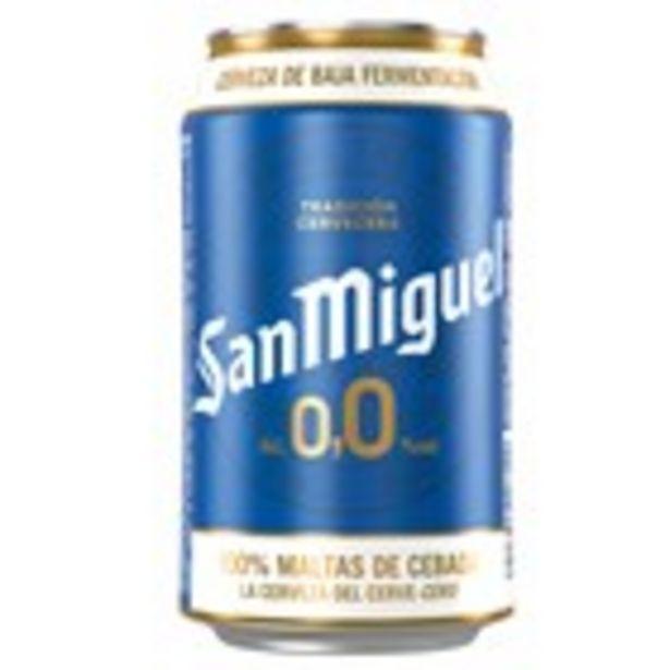 Oferta de Cervesa SAN MIGUEL 0,0, llauna 33 cl. por 0,5€