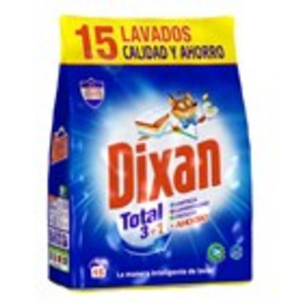 Oferta de Detergent en pols DIXAN, ecobossa 15 rentats por 2,59€