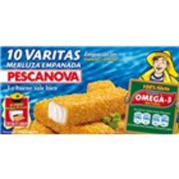 Oferta de Varetes de lluç empanades PESCANOVA, paquet 300 grams por 2,29€
