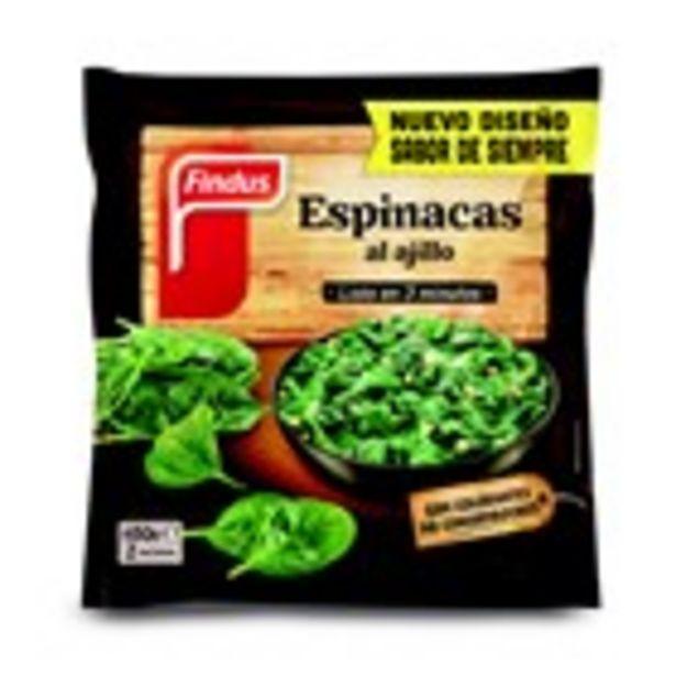 Oferta de Espinacs a l'allet FINDUS verdeliss, paquet 450 grams por 2,59€