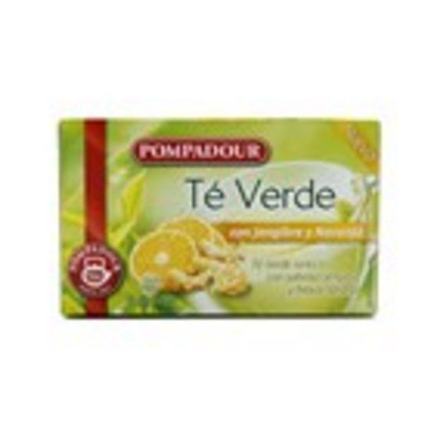 Oferta de Infusió te verd gingebre i taronja POMPADOUR, 20 sobres 30gr por 1,79€