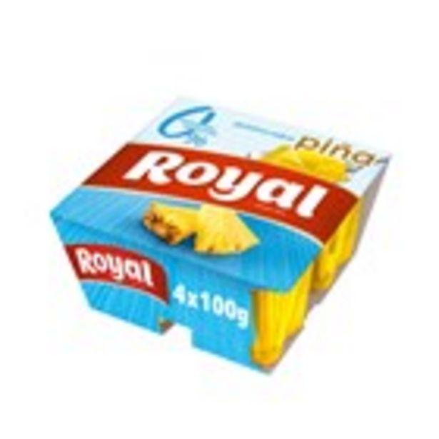 Oferta de Gelatina de pinya 0% ROYAL 4 unitats, 400 grams por 1,18€