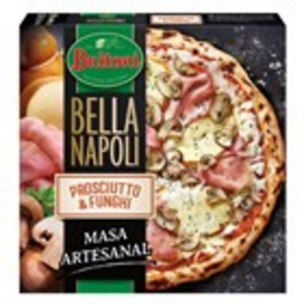 Oferta de Pizza Bella Napoli prosciutto e funghi BUITONI, 415 grams por 3,44€