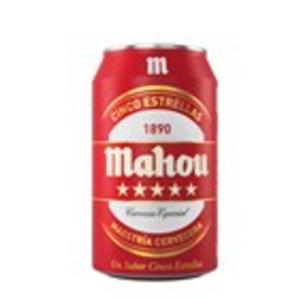 Oferta de Cervesa 5 estrellas MAHOU, llauna 330 ml por 0,62€