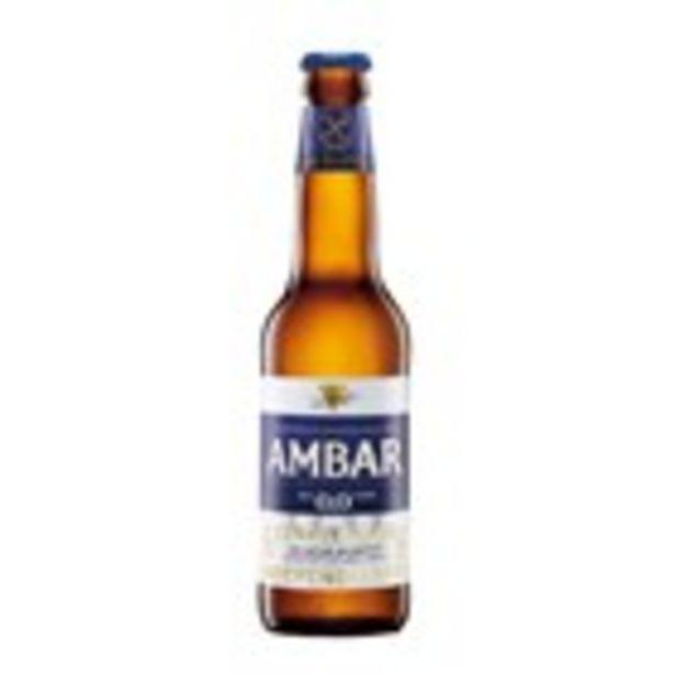 Oferta de Cervesa sense gluten AMBAR 0%, ampolla 33 cl por 0,84€