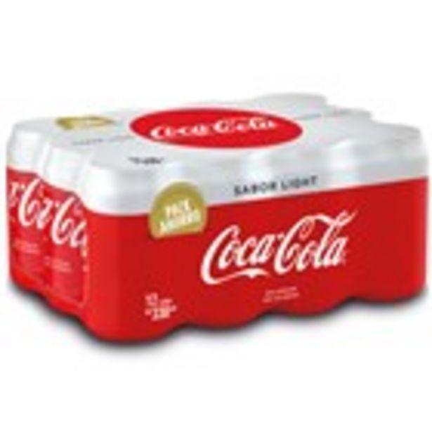 Oferta de Refresc de cola light COCA-COLA, llauna pack 12 unitats por 7,92€