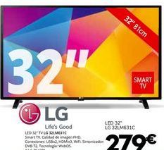 Oferta de Smart tv LG por 279€