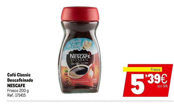 Oferta de Café descafeinado Nescafé por 5,39€