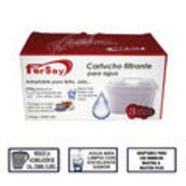 Oferta de Filtro de agua adaptable a Brita Maxtra + Maxtra Plus, 3 unidades, reduce la acumulacion de cal, met... por 13,52€