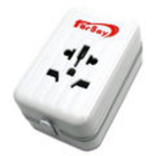 Oferta de Adaptador UNIVERSAL de viaje para clavijas de red EU/UK/USA/AUSTRALIA.Voltaje entrada:100-240V, Volt... por 15,8€
