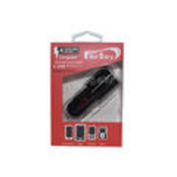 Oferta de Cargador rapido de coche QUALCOMM vesion: 3.0, marca Fersay, incluye 2 puertos USB, 18+18W. entrada:... por 8,2€