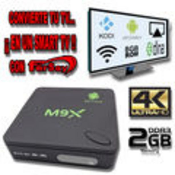 Oferta de Convertidor de TV a Smart TV via Wifi para Android e IOS. De sobremesa Version: 6.0.1, Capacidad de ... por 39,87€