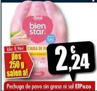 Oferta de Pechuga de pavo sin grasa ni sal ELPOZO por 2,24€