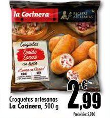 Oferta de Croquetas artesanas La Cocinera, 500 g por 2,99€
