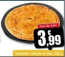 Oferta de Empanada redonda de atún, 600 g por 3,99€