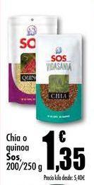 Oferta de Chía o quinoa Sos, 200/250 g por 1,35€