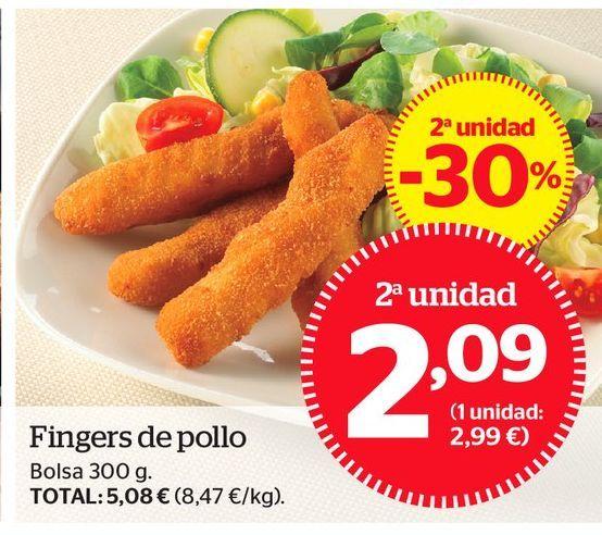 Oferta de Fingers de pollo por 2,09€