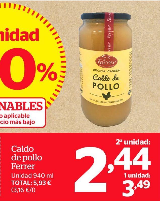 Oferta de Caldo de pollo por 2,44€