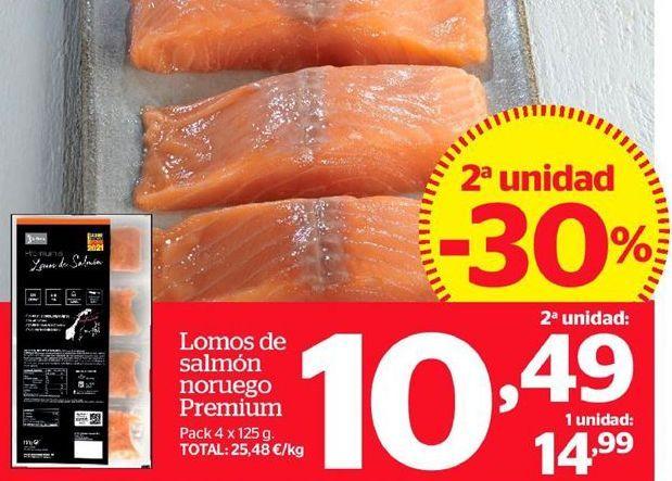 Oferta de Lomos de salmón noruego Premium por 10,99€