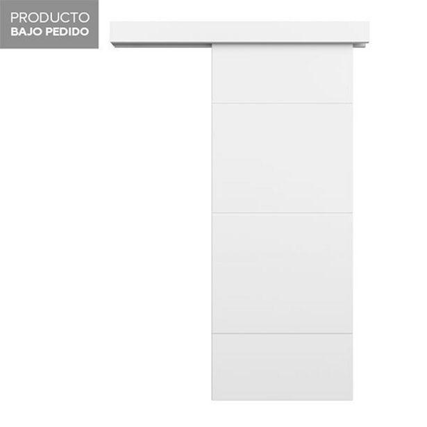 Oferta de Puerta corredera Capri lacada blanca 203 x 72,5 cm por 99,95€