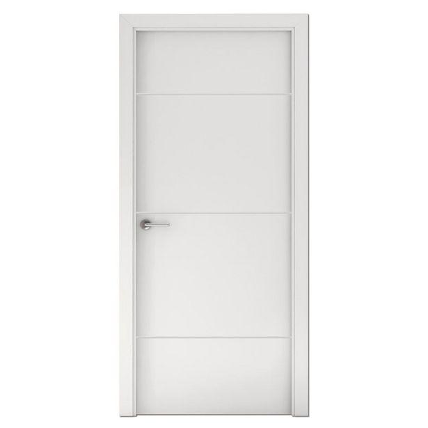 Oferta de Puerta Capri lacada blanca derecha 203 x 72,5 cm por 99,95€