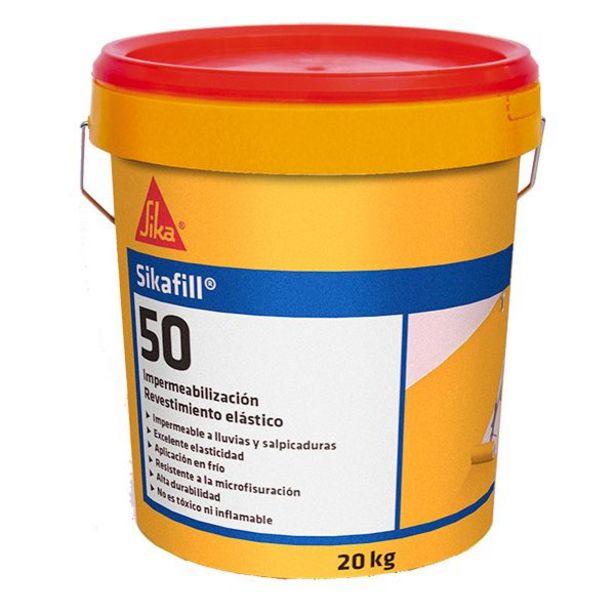 Oferta de Revestimiento elástico para impermeabilización in situ Sikafill - 50 blanco 20 kg por 46,95€