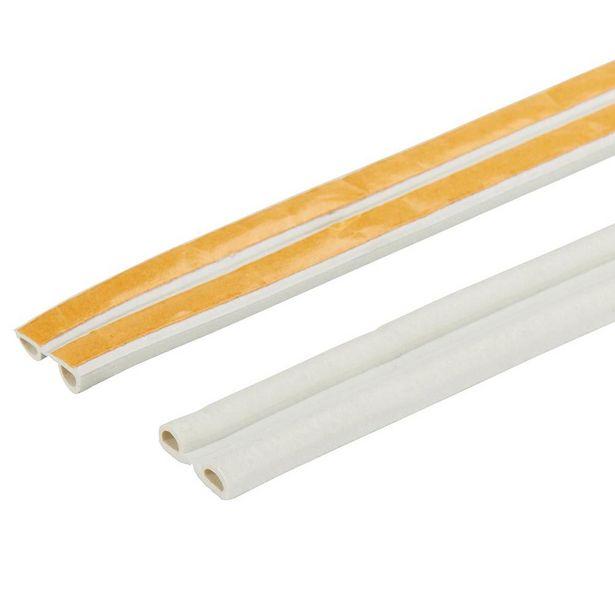 Oferta de BURLETE CAUCHO PERFIL P 5,5 mm x 6 m DIALL BLANCO por 2,95€