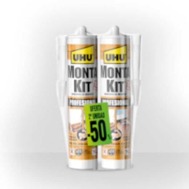 Oferta de MONTAKIT PROFESIONAL UHU CARTUCHO 2 X 350 GR por 9,35€