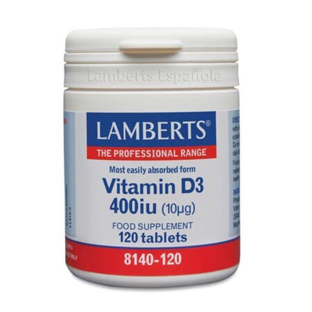 Oferta de Vitamina D3 400UI (10µg) 120 Tabs por 13,47€