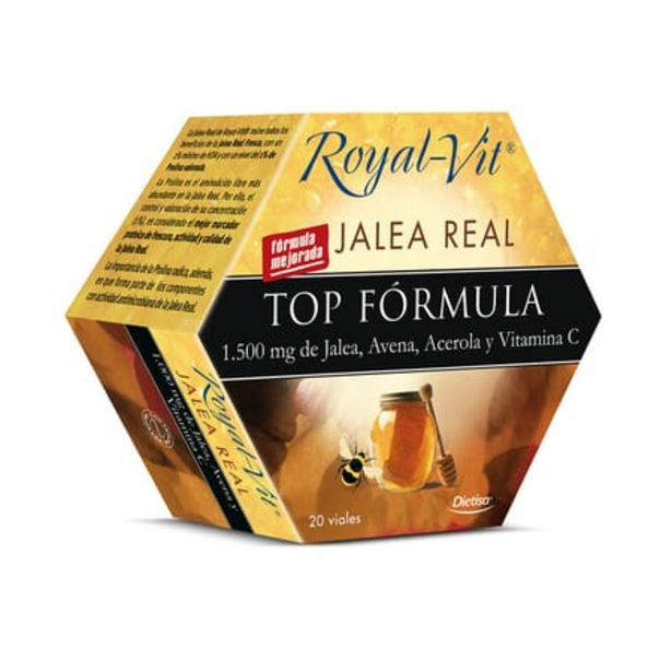 Oferta de JALEA REAL ROYAL VIT TOP FORMULA 20 x 10ml por 15,5€