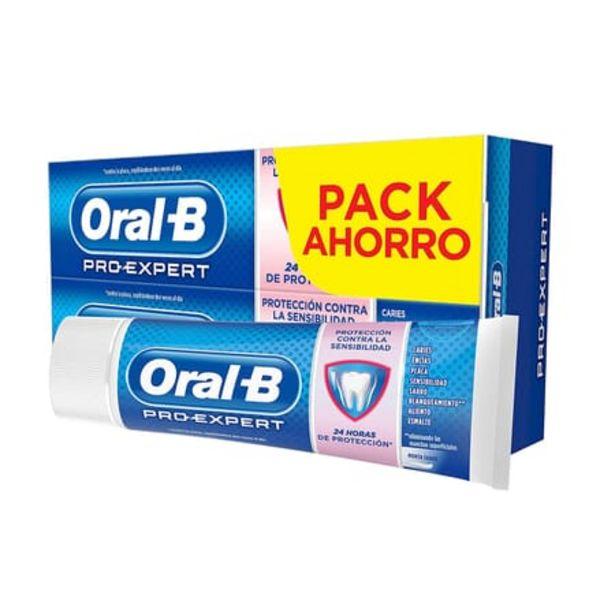 Oferta de Oral-B Pro-Expert Protección Dientes Sensibles Menta Suave 75 ml 2 Uds por 5,65€