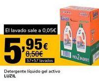 Oferta de Detergente líquido gel activo LUZIL por 5,95€