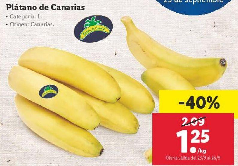 Oferta de Plátano de Canarias por 1,25€