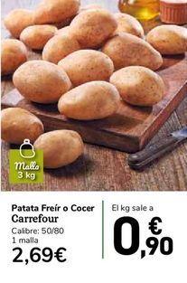 Oferta de Patatas freír o cocer  Carrefour por 0,9€