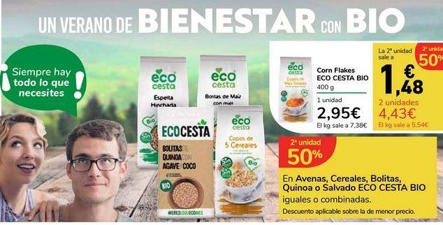 Oferta de Cereales Corn Flakes Eco Cesta, 400 g por 2,95€