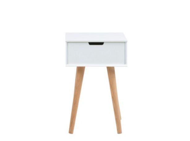 Oferta de Mesita en laca blanca y patas de madera MODELO EVA por 117€
