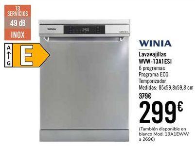Oferta de WINIA Lavavajillas WVW-13A1ESI  por 299€