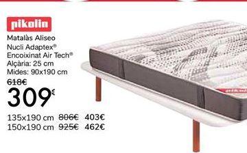 Oferta de Pikolin Colchón Aliseo Núcleo Adaptex Acolchado Air Tech por 309€