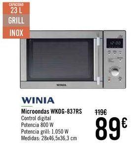 Oferta de WINIA Microondas WKOG-837RS  por 89€