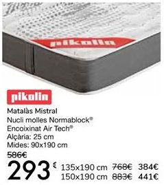 Oferta de Pikolin Colchón Mistral por 293€
