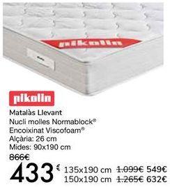 Oferta de Pikolin Colchón Levante  por 433€